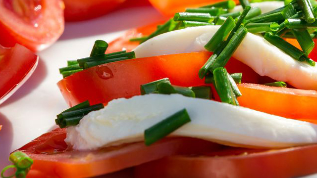 Tomates Mozzarella un belle entrée