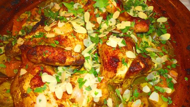 Tajine de poulet aux épices Terminer
