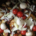 Tajine de poulet au vin rouge Cuire