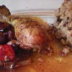 Tajine de poulet au vin rouge