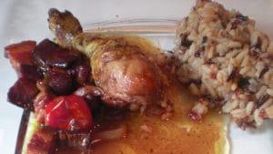 Recette de Tajine de poulet au vin rouge
