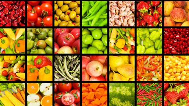 Tableau des légumes et fruits