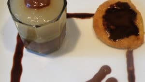 Recette de Verrine de poires williams au chocolat