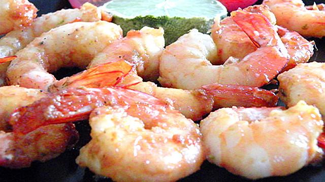 Crevettes royales au miel