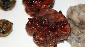 Recette de Filet mignon de porc aux airelles sauvages