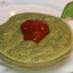Gaspacho-courgette-et-basil Assiette