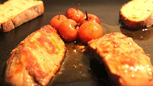 Foie gras pôlé aux cerises Terminer
