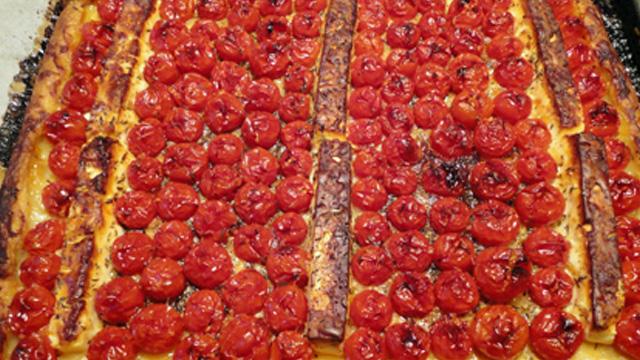 Tarte aux tomates cerise Terminer