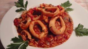 Recette de Calamars à la tomate