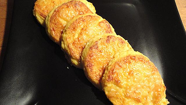 Galettes de mais gratinées au parmesan