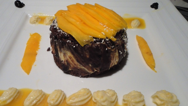 Gateau chocolat à la mangue
