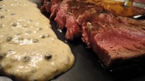 Recette de Steak au poivre vert
