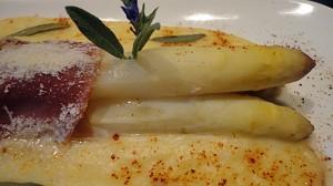 Recette de Asprges au parmesan
