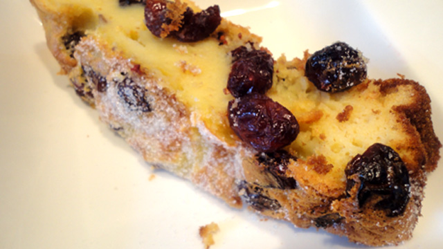 Clafoutis aux cramberry Terminer