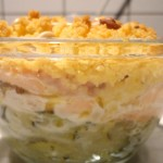 crumble courgette saumon
