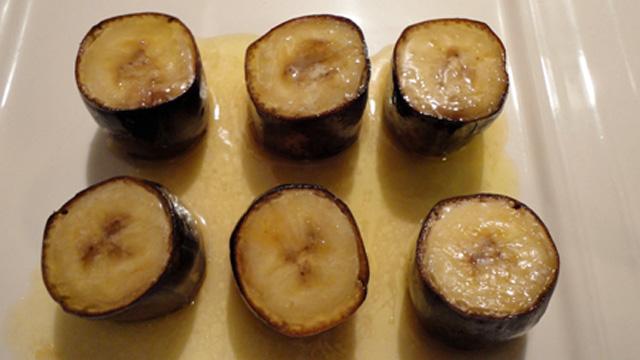 Bananes en coques Terminer