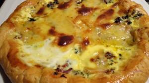Recette de Tarte aux pommes de terre et fromage