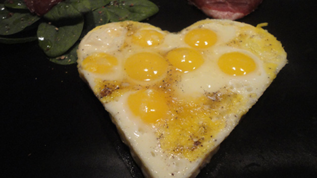 Coeur d'oeuf de caille