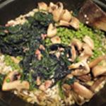 Risotto-au-saumon-Epinard et champignons