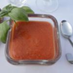 Gaspacho-de-tomate-Avec le basilic