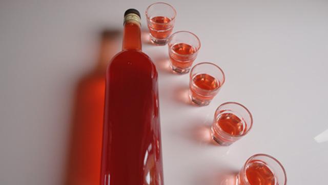 Liqueur de fraise Terminer
