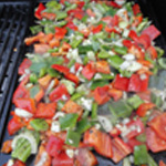 Poivron-au-barbecue-Griller sur la plancha