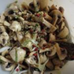 Salade-de-champignons-Laisser macérer