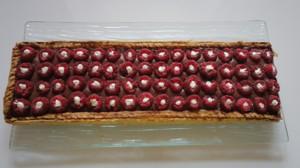 Recette de Tarte framboises chocolat