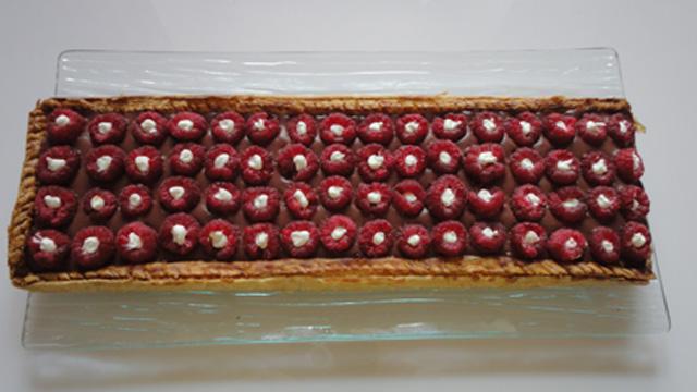 Tarte-framboises-chocolat-Terminer
