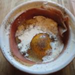 Oeuf-cocotte-au-jambon-Crème