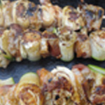 Brochette-poulet-mariné-Brochettes cuites