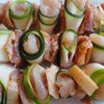 Brochette-poulet-mariné-Monter les brochettes