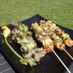 Brochette-poulet-mariné-Assiette