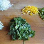 Brochettes-viande-Rincer le persil