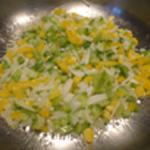 Brochettes-viande-Saisir les légumes