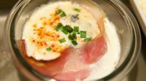 Recette d'œufs cocotte au Saint Agur