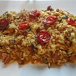 Risotto-andouillettes-Assiette de risotto