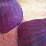 Carpaccio-betterave-rouge-Trancher en lamelles