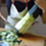 Lasagnes-légumes-Eplucher les courgettes