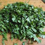 Lasagnes-légumes-Rincer et ciseler le persil