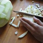 Lasagnes-légumes-Tailler les courgettes