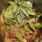 Soupe-aux-aubergines-Ajouter epices et herbes