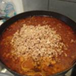 lasagnes-Italienne-Ajouter le porc