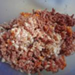 Mini-paté-en-croute-pintande Mélanger les viandes