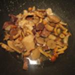 Rognon-de-porc-Cuire les champignons
