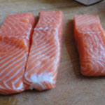 Saumon en croute Rincer le saumon