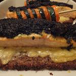 Saumon en croute Déposer le pesto