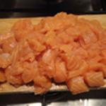 Soupe-au-saumon-Couper le saumon
