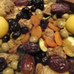 Tajine à l'agneau -Ajouter-les fruits sec