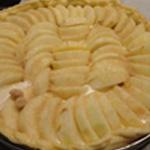 Tarte-aux pommes -Couler la crème